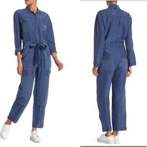 Rag & Bone Henri Tie-Front Silk Jumpsuit